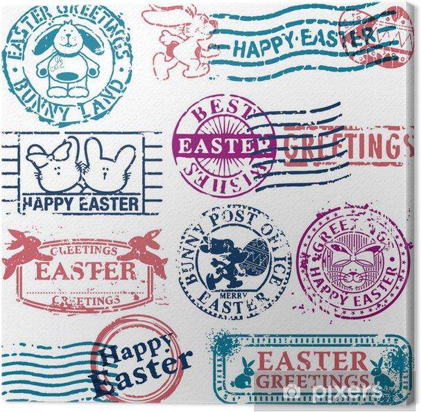 Leinwandbild Easter Poststempels - Internationale Feste