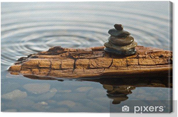 Leinwandbild Ein Zen-Moment - Haus und Garten