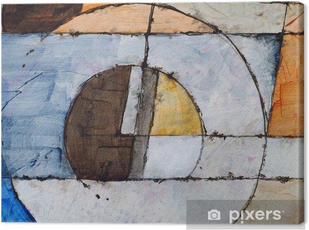 Leinwandbild Eine abstrakte Malerei - Lifestyle