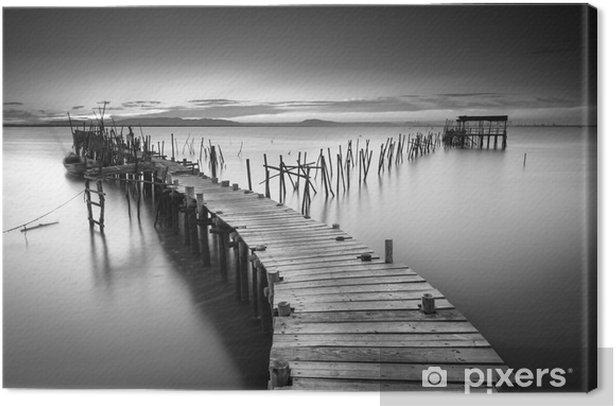Leinwandbild Eine friedliche alte Pier - Landschaften