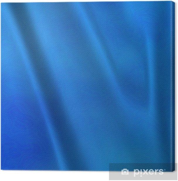 Leinwandbild Eine große abstrakte Hintergrund des blauen Taft Gardinen oder Vorhänge - Texturen