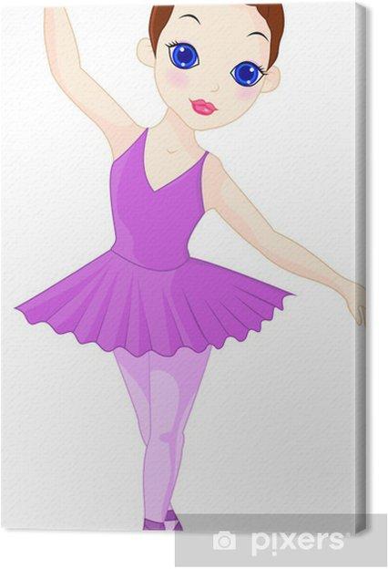 Leinwandbild Eine kleine Ballerina - Wandtattoo