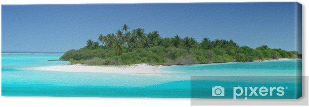 Leinwandbild Einsame tropische Insel - Urlaub