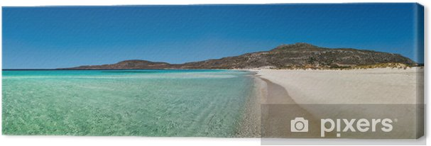 Leinwandbild Elafonissos Panorama-Blick auf den Strand, Peloponnes, Griechenland - Europa
