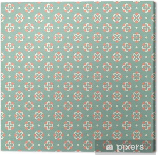 Leinwandbild Elegante Romantische Nahtlose Muster Fliesen Retro