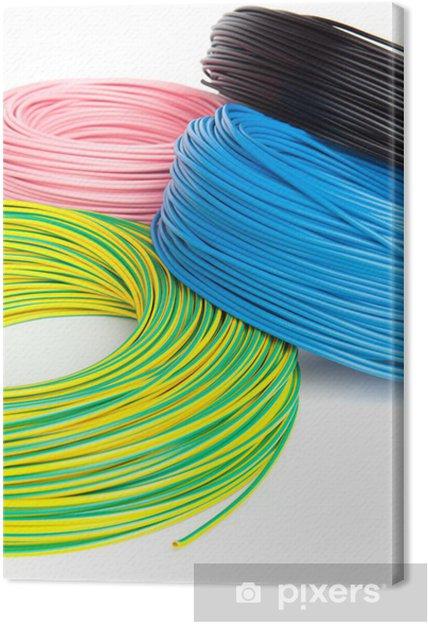 Leinwandbild Elektrokabel Reel - Internet und Netzwerke