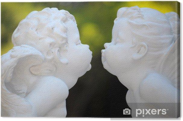 Leinwandbild Engel küssen - Fröhlichkeit