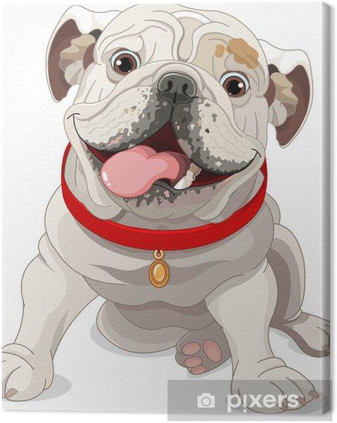 Leinwandbild Englische Bulldogge - Wandtattoo