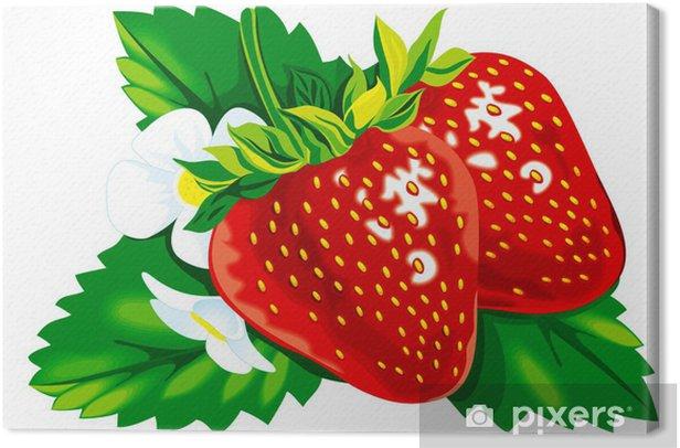 Leinwandbild Erdbeere - Themen