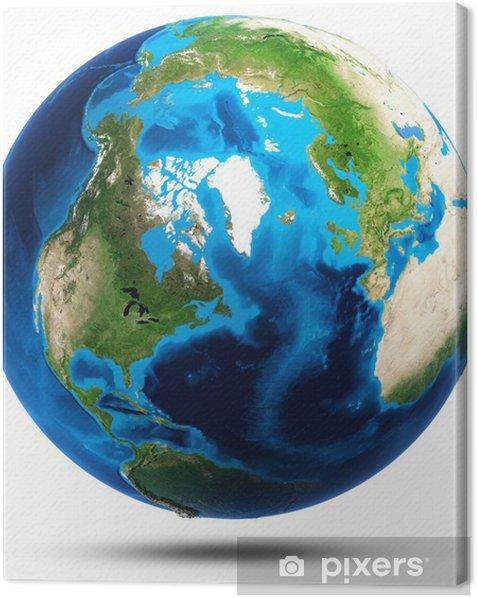Leinwandbild Erde echte Bergrelief - Weltall
