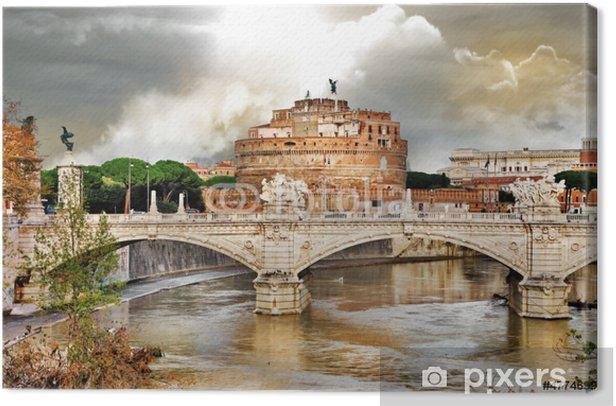 Leinwandbild Erstaunlich Rom - Engelsburg - Themen