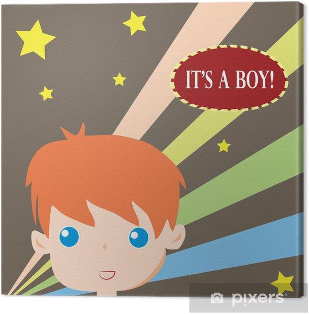 Leinwandbild Es ist eine Jungen-Karte -