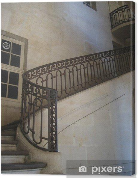 Leinwandbild Escalier - rampe en fer forgé