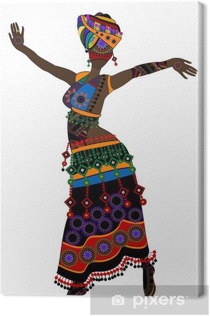 Leinwandbild Ethnic woman - Entertainment