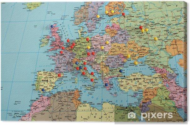 Leinwandbild Europe map • Pixers® - Wir leben, um zu verändern