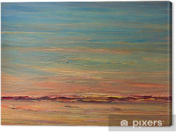 Leinwandbild Expressive Sonnenuntergang über dem Fluss - Kunst und Gestaltung