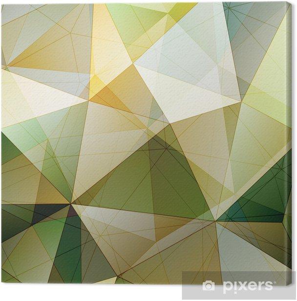 Leinwandbild Farbdreieck Zusammenfassung Hintergrund - Vorlagen