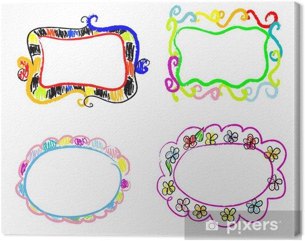 Leinwandbild Farbe Doodles Frames - Kunst und Gestaltung