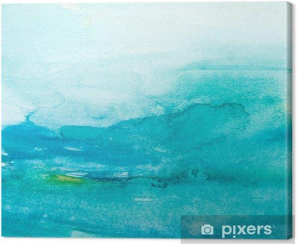 Leinwandbild Farbstriche Aquarell, Malerei, Kunst - Stile
