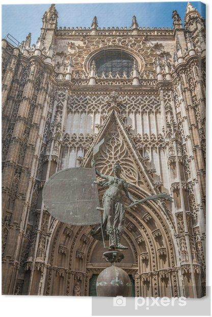 Leinwandbild Fassade der Kathedrale von Sevilla in Spanien - Öffentliche Gebäude