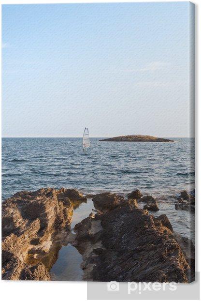 Leinwandbild Felsen am Meer - Urlaub