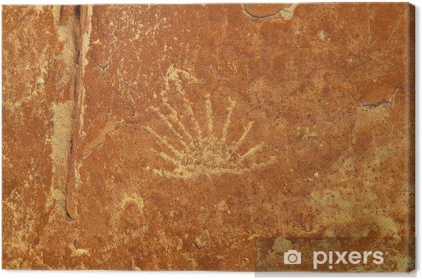 Leinwandbild Felsmalereien - Ute Petroglyphen - Amerika