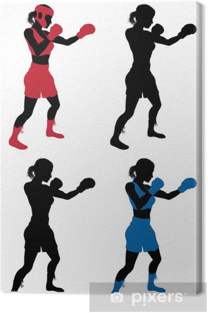 Leinwandbild Female boxer - Einzelsportarten