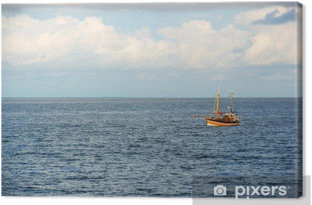 Leinwandbild Fischerboot auf dem Meer - Wasser