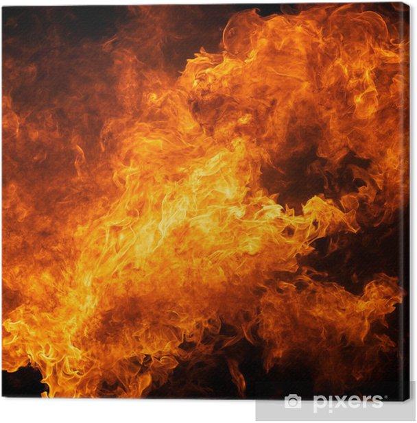 Leinwandbild Flamme Feuer Flamme Textur Hintergrund - Leben
