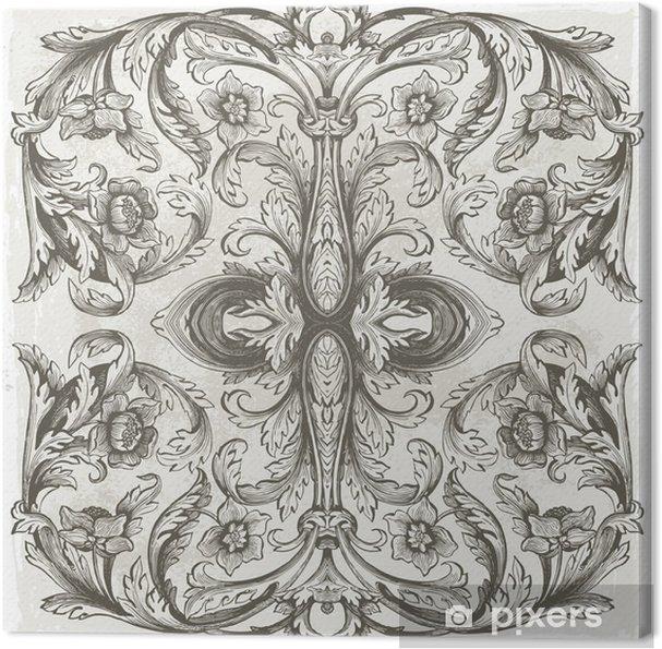 Leinwandbild Floral background - Themen