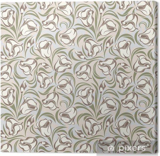 Leinwandbild Floral nahtlose Muster. Vektor-Illustration -