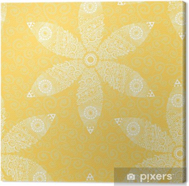 Leinwandbild Floral seamless pattern - Hintergründe