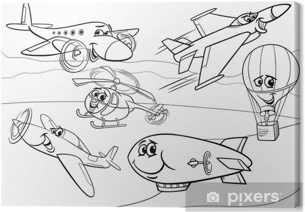 Leinwandbild Flugzeuge Flugzeuge Gruppe Malvorlagen Pixers Wir