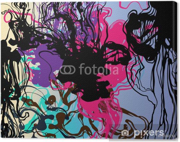Leinwandbild Flüssige Tinte Hintergrund. Vektor-Illustration - Hintergründe