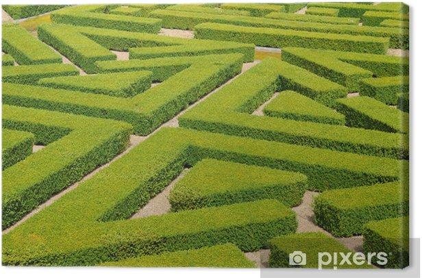Leinwandbild Frankreich, Französisch-formalen Garten in der Domaine de Villarceaux - Urlaub