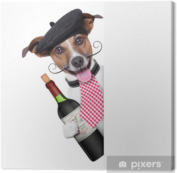 Leinwandbild Französisch Hund - Gerichte