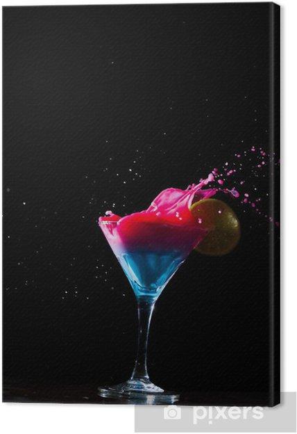 Leinwandbild Frische Milch Cocktail Spritzwasser - Alkohol