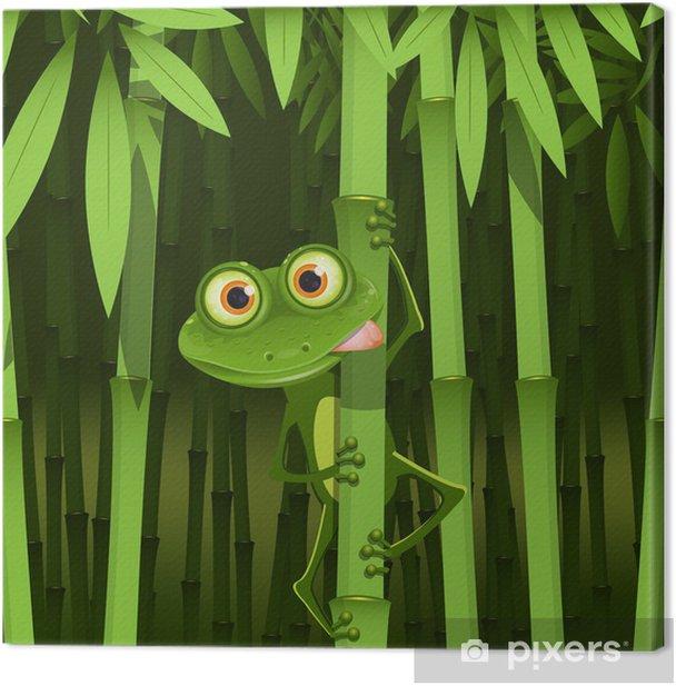 Leinwandbild Frosch - Für Kindergartenkind