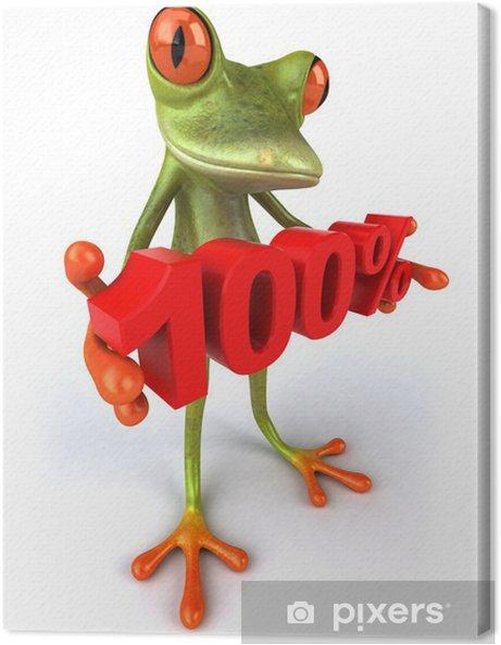 Leinwandbild Frosch - Zeichen und Symbole