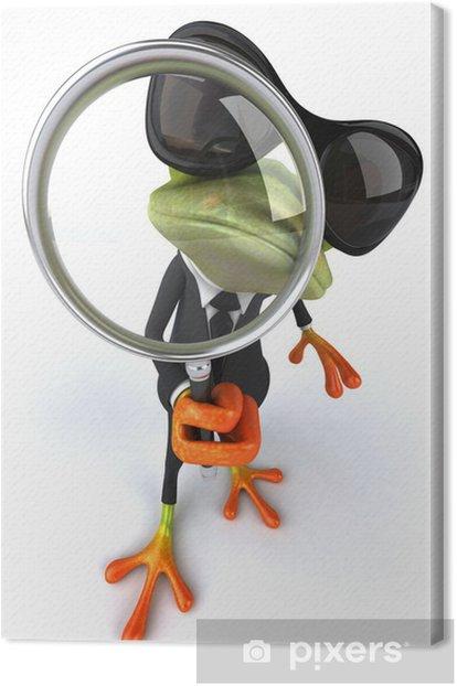 Leinwandbild Fun frog - Zeichen und Symbole