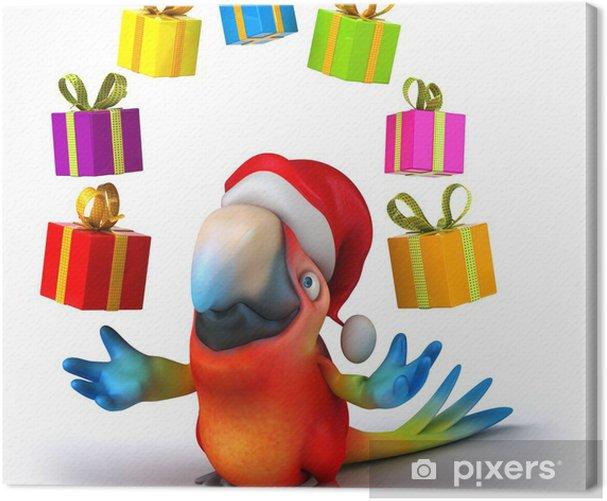 Leinwandbild Fun Papagei - Zeichen und Symbole