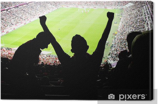 Leinwandbild Fußball-Fans Stadion - Sportartikel
