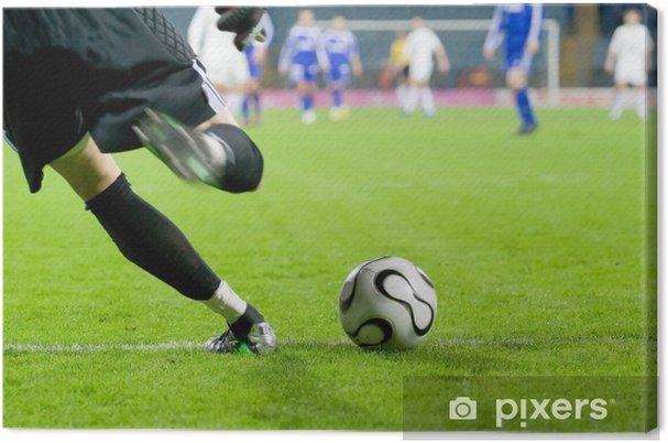 Leinwandbild Fussball Oder Fussball Torwart Kicken Den Ball