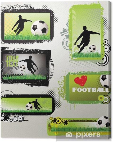 Leinwandbild Fußball Retro-Grunge-Banner - Hintergründe