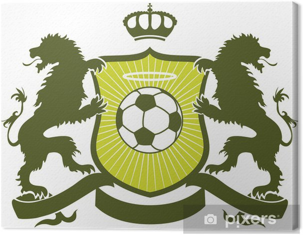 Leinwandbild Fußball-Wappen - Teamsport