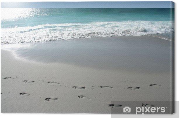 Leinwandbild Fußspur - Urlaub