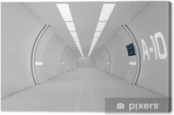 Leinwandbild Futuristischen Interieur - Zeit