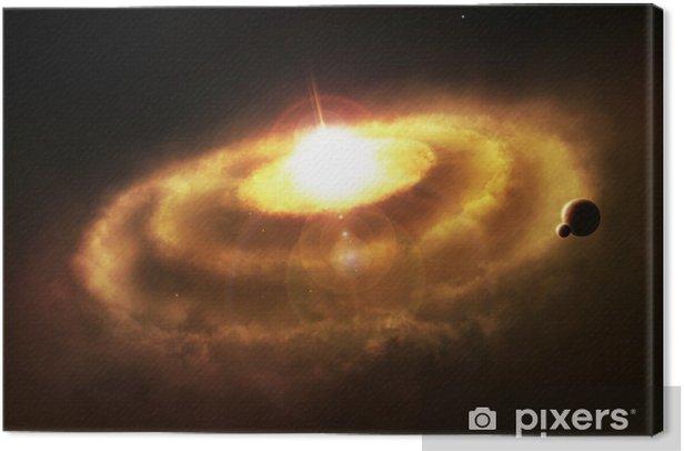 Leinwandbild Galaxy Ringnebelfleck, Raum Katastrophe - Themen