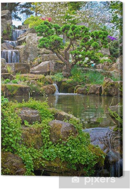 Leinwandbild Garten-Wasserfall