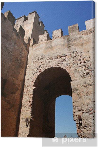 Leinwandbild Gate Capital. Arabischen Mauer von Badajoz - Denkmäler